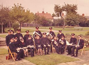 Bletchley Band in Central Gardens, early 1960s