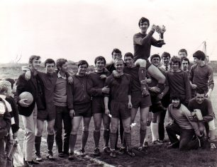 Wiltonians after beating Edlesborough United 1970