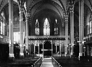 St. Giles Church, Stony Stratford, interior before alterations 1928
