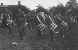 Army band at Stacey Hill Farm, Wolverton
