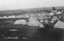 The army under canvas in fields near Stony Stratford