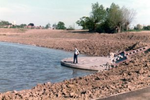 Lodge Lake being landscaped in 1985