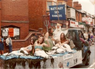 Sea Rangers float at the Bletchley Carnival, c 1972.