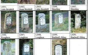 Milestones in Milton Keynes area by Norman.