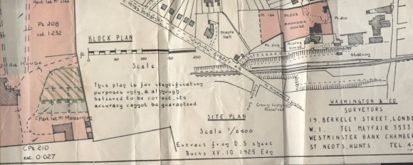 Part of an old map shows where Rhondda House would have been