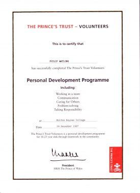PTV certificate