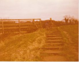 The wooden bridge on the way to Wolverton (which is near to Bancroft now)