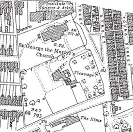 Map of St George the Martyr Church and Vicarage