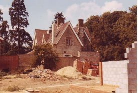 New houses being built in the Vicarage garden 1984