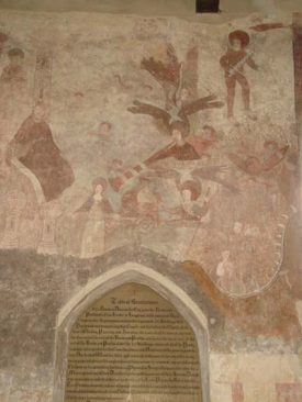 Wall Painting in St Lawrence Church at Broughton