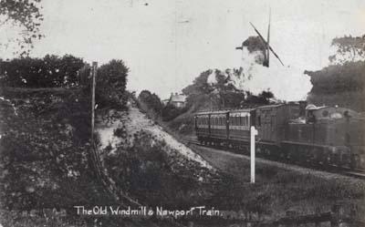 Bradwell windmill and Newport Train