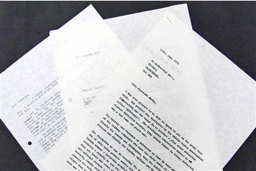 Letters sent during the 'All Change' research period.