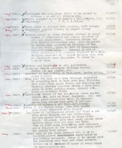 Letter from D. Warren to Margaret Broadhurst, enclosing an index of references sourced from the Northampton Mercury (1976).