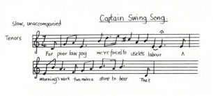 All Change 'Captain Swing Song' music and lyrics (Act 1 - Sc.2).
