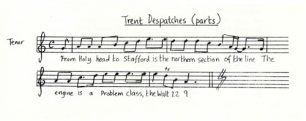 All Change 'The Trent Despatches' music and lyrics (Act 2 - Sc.7).