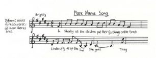 All Change 'Place Name Song' music and lyrics (Act 1- Sc.9).