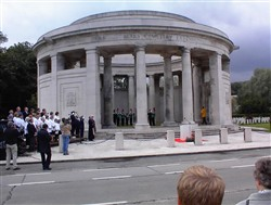 Colour photograph showing the Ploegsteert Memorial to the Missing at the Royal Berkshire Cemetery Extension