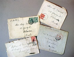 Photograph of envelopes addressed to May, Albert and Mr E French