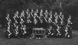 Black and white photograph of a Boys Brigade group