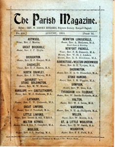 The Parish Magazine, Newport Pagnell issue no.258 (August 1913)