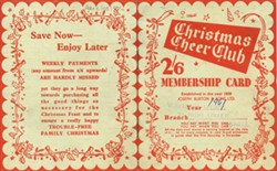 Christmas Cheer Club Membership Card