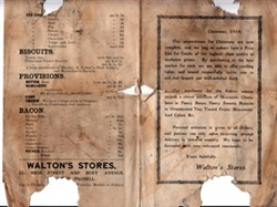 Christmas Price List, Walton's Stores