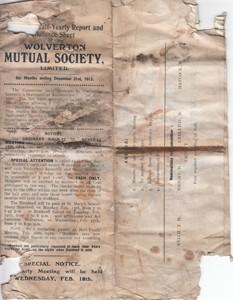 Half Yearly Report, Wolverton Mutual Society