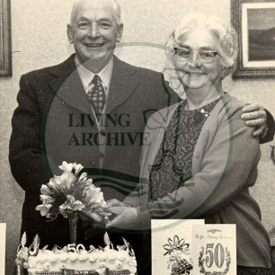 Mr Ernest & Mrs Minnie Perkins' 50th Wedding Anniversary. Photograph supplied by kind permission of BCHI (Accession Ref: BLE/P/521). Original donated by Bletchley Park.