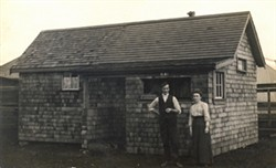 Robert & Minnie Hall's Wooden hut