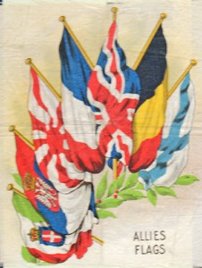 Postcard of Allies Flags