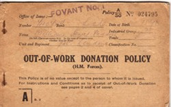 Out-of-work Donation policy