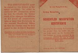 Scheduled Occupation Certificate