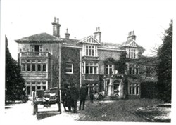 Photograph of a gun carriage at Staple Hall