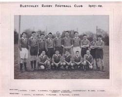 Bletchley RFC team photograph 1947-48 season.