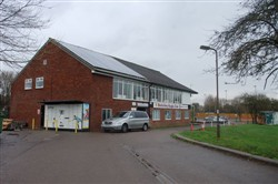 Exterior of Bletchley RUFC Clubhouse