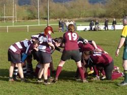 Bletchley Ladies RFC in scrum