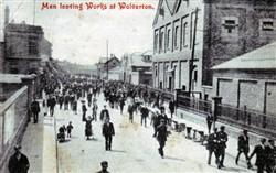 Men leaving Wolverton Works