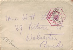 Envelope addressed to Mrs W.H. Lloyd.