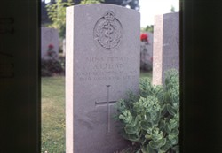 Slide of the headstone for A.L. Lloyd.