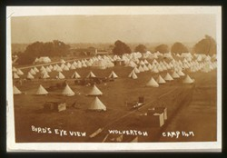 Slide of an aerial view of Wolverton Camp.