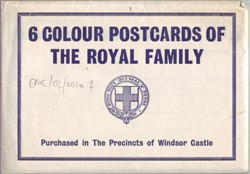 Envelope containing 6 colour postcards of the Royal Family
