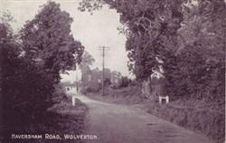 Postcard of Haversham Road Wolverton