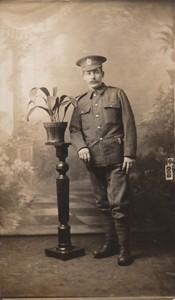 Photographic postcard of Sapper Edwin Butler in uniform