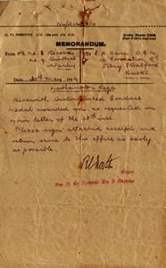 Memorandum accompanying distinguished conduct medal
