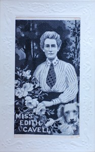 Embroidered Card of Miss Edith Cavell