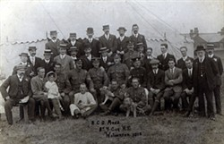 Photograph showing members of the NCO Mess