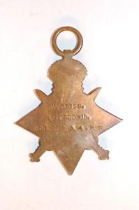 World War One 1914-1915 Star awarded to 4th Class Artificer Harold Godwin.