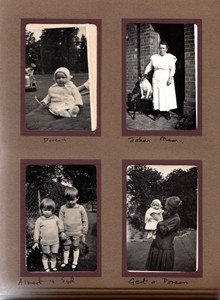 Black and White Photograph Album of Albert Mander's Family