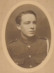 Sepia photograph of Albert Mander in Army Uniform