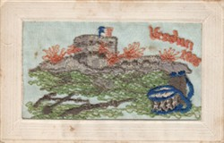 "Embroidered postcard ""Verdun 1916"""